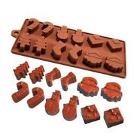 Santa Claus Silicone Fondant Mold Cake Xmas Decor Chocolate Baking Mould Tool