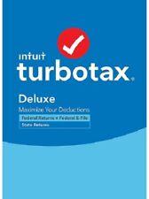 Intuit Turbotax Desktop Deluxe + States 2020