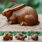 Rabbit Boxwood Craved Statue Figurine Pendant (Chinese 12 Zodiac Series)