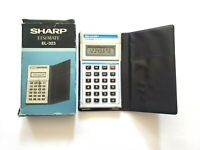 Sharp Elsi Mate EL-323 Electronic Calculator With Case and Box Japan