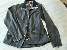 Barbour Waxed Jacket Utility Navy Womens Size 12