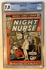 Night Nurse #1 CGC 7.0 WP 1972 1st Appearance Linda Carter Key Bronze Age Book