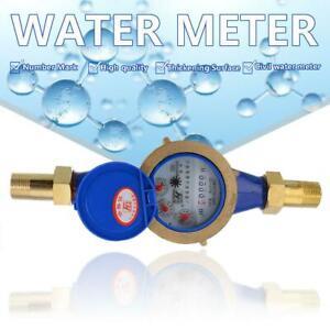 """Plated Brass DN20 3/4"""" Water Meter Flow House Garden Metering Various Connectors"""