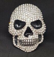 Diamante Skull Belt Buckle Biker