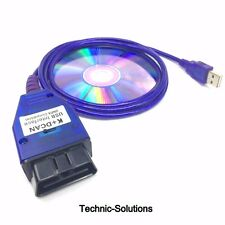 BMW USB - OBD K + Dcan Diagnostic Cable Switched UK INPA DIS SSS NCS Coding