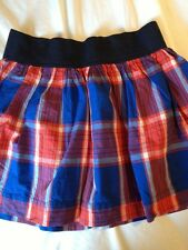 HOLLISTER (XS) X-Small Mini Skirt  Cotton, Plaid Red White & Blue, EUC!