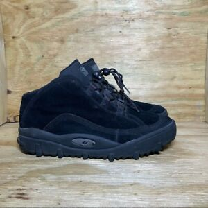 Salomon Waterproof Suede Ankle Boots, Men's Size 13, Black