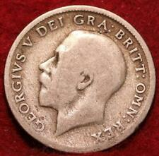 1921 Great Britain 6 Pence Silver Foreign Coin