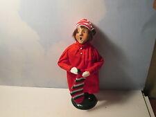 Byers Choice 1986 Pajama Boy with Stocking New