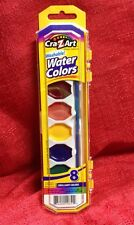 Cra-Z-Art 8 Count Assorted Washable Watercolors W/ Brush Kids Arts & Crafts New