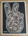 Peace Fingers by Shepard Fairey Obey Art Print Rare Sold Out Poster Signed AP
