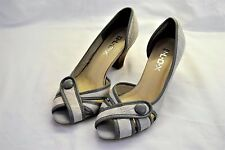 BLOX Ladies Grey Peep Toe Shoes