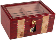 CIGAR HUMIDOR 150 ct CLEAR TOP - THE CONQUISTADOR - NEW