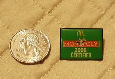 McDonald's 2006 Monopoly  Hat PIN Tack Label Pinbacks