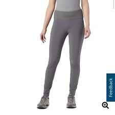 New Womens Columbia Athletic Pants Leggings Grey Stretch