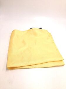 $95 Club Room Men`S Dress Casual Handkerchief Solid Yellow Silk Pocket Square