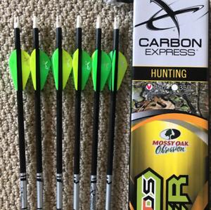 Carbon Express Arrows MAYHEM SDS Hunter 250 - 6PK FLETCHED ( NO INSERTS ) 50983