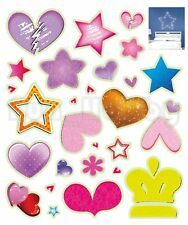 Glow Stickers Cute Star Heart Shapes Glow In The Dark Stickers Cute Shapes