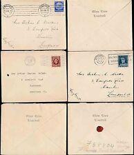 MARITIME 1936 GLEN LINE ENVELOPES from BELGIUM GRAVESEND KENT GERMANY...3 ITEMS