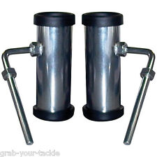 Fishing Rod Holders Pair Stainless Steel Rowlock Rod Holders