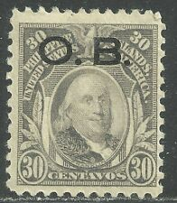 U.S. Possession Philippines Official stamp scott o14 - 30 cents issue mh #2