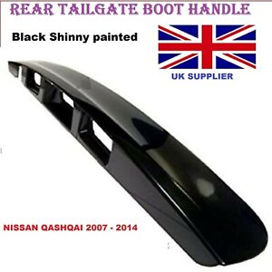 For Nissan Qashqai  2007-2014 Rear Black Tailgate Boot Handle with Camera hole