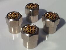La Piel De Leopardo Patrón Aluminio neumático válvula Tapas De Aleación Para Coche Llanta Rueda