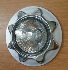 5 x GU10 Recessed Round Star Fixed Downlight Polished & Brushed Chrome Spotlight