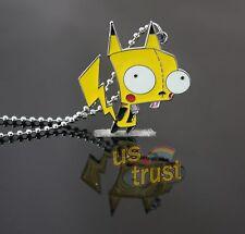 Invader Zim Alien Gir Robot Glitter Pikachu Gir Pendant Necklace Hot Cute Gift