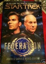 STAR TREK FEDERATION by Judith & Garfield Reeves-Stevens~ISBN 0671894226~ USA