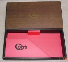 Colt Woodgrain Python Mint Two Piece Box & Paperwork  1967-1971