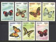 Cambodia 1989 Butterflies/Insects/Nature 7v set (b3974)
