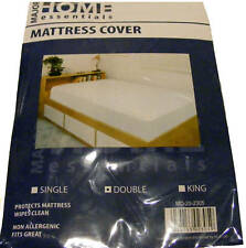 DOUBLE PLASTIC MATTRESS BED WETTING SHEET PROTECTOR COVER - WATERPROOF