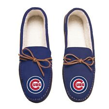b1d29506b Chicago Cubs Team Color MLB Men s Moccasins Slippers FREE SHIPPING