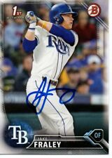 Jake Fraley Tampa Bay Rays 2016 Bowman Draft Rookie Signed Card