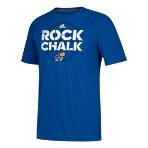 Kansas Jayhawks NCAA Adidas Men's Blue Sideline Mantra Performance T-Shirt