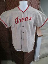 Vintage Wool Baseball Jersey INCAS Adult Medium Eastside Sporting Goods 50's