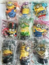 2015 China Mcdonalds Happy Meals toy Despicable Me MINIONS complete set of 9 NIP