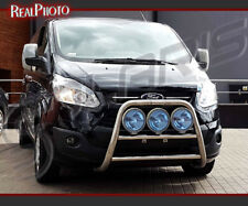FORD TRANSIT CUSTOM 2012+ HIGH BULL BAR WITHOUT AXLE BARS / STAINLESS STEEL
