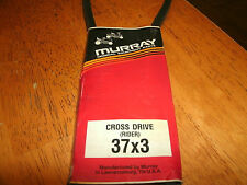 "Murray CROSS DRIVE 1/2"" WIDE PART #37x3 LAWNMOWER V BELT FREE SHIPPING!!!"