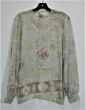 GIORGIO ARMANI Sheer Flowy Paisley 100% Silk Women's Top Sz 14/48 Made in Italy