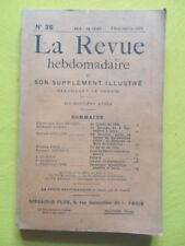 La Revue Hebdomadaire 1910 n° 36 Paul Renard 4 septembre à Lyon Mme de Condorcet