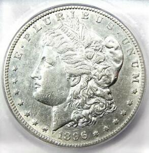 """1896-S Morgan Dollar $1 Coin - Certified ICG AU50 - Rare Date """"S"""" Mint Coin!"""