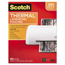3m Ltr Size Thermal Laminating Pouches 11 25x8 910 200 Per Pack Tp3854200 New