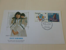 Canada Inuit Cachet Cover 1978 Fdc With 14c Canada Stamps (Fleetwood Cachet) #1