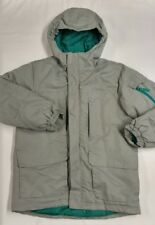 SLALOM SKI SNOWBOARDING WINTER JACKET LARGE 14/16 Gray Green Multi Pocket