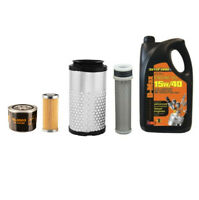Kubota K008 Mini Digger  Filter Service Kit - Air, Oil, Fuel Filters 5L Eng Oil