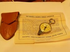 Vintage Map Measurers 2, 1 With Compass