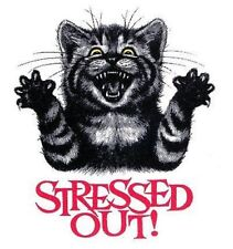 FUNNY STRESSED OUT CAT SWEATSHIRT  WS728
