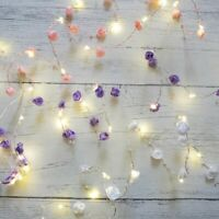 Rose & Pearl FIREFLY LED String Lights GARLAND Battery Powered Indoor